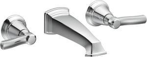 Moen Rothbury™ 1.5 gpm 3-Hole Double Lever Handle Wall Mount Lavatory Faucet MTS6204