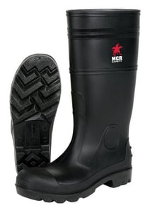 River City PVC Steel Toe Boot in Black RPBS120