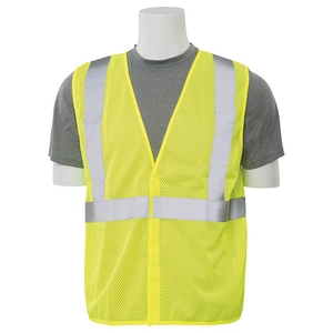 ERB Safety High-Visibility Resuable Mesh Vest in Lime E61426