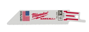 Milwaukee Sawzall® 4 in. Iron Reciprocating Saw Blade 5 Pack M48005181