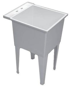 PROFLO® White 20 in. Single Compartment Laundry Sink PFLT2024