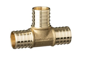 Qest ZurnPEX® 1 x 1 x 1 in. Barbed Brass Tee QQQT555GFX