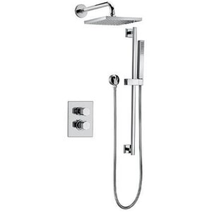 Fortis Scala Adjustable Slidebar Thermostatic Shower System Trim with Double Knob Handle F84KIT04