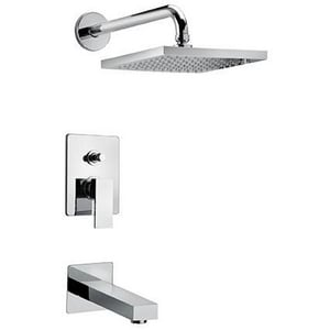 Fortis Scala 2.2 gpm Single Lever Handle Pressure Balancing Tub and Shower in Polished Chrome F8479700PC