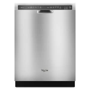 Whirlpool 24 in. 15 Amp 5-Cycle 5-Option Tall Tube Dishwasher in Monochromatic Stainless Steel WWDF750SAYM