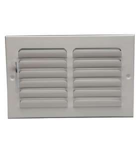 PROSELECT® 12 in. Steel Ceiling/Sidewall Register in White PS1CWML12