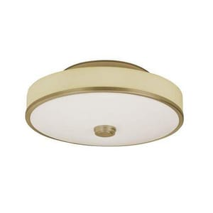 AFX Lighting Transitional 55W 1-Light Semi-Flush Light in Champagne ASHC155ACMVT