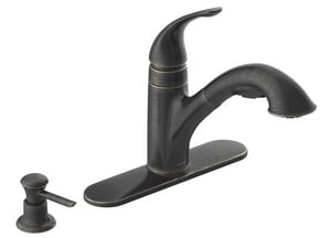 Moen Caprillo 1.5 gpm Single Lever Handle Deckmount Kitchen Sink Faucet 3/8 in. Compression Connection MCA87550