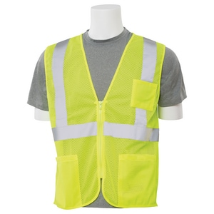 ERB Safety Mesh Vest Reflective Strip in Lime E616