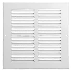 Proselect 14 x 10 in. Aluminum Return Air Grille 1/2 Fin White PSARGW14