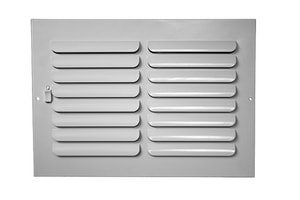 PROSELECT® 12 in. Steel Ceiling/Sidewall Register in White PS1C12