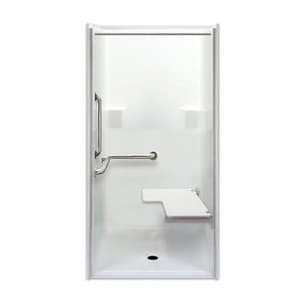 Aquarius Industries 39 x 39 in. ADA Transfer Shower Stall AG3698BFEBRP1CR
