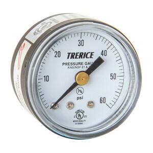 H.O. Trerice 1-1/2 x 1/8 in. Gauge Pressure Center Back Mount T800B1501BA090