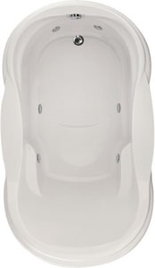 Hydro Systems Vanessa 72-1/2 x 42 in. Oval Whirlpool Bathtub with Left Hand Drain HVAN7242AWP