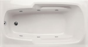 Hydro Systems Solo 66 x 34 in. Rectangle Whirlpool Bathtub with Combo System and Left Hand Drain HSOL6634ACO