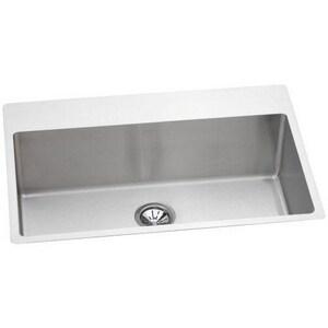 Elkay Avado™ 1-Bowl Topmount and Undermount Kitchen Sink with Rear Center Drain EEFRTUS332210