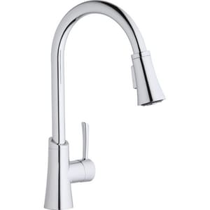 Elkay Gourmet 1-Hole Pull-Down Spray Kitchen Faucet with Single Lever Handle ELKGT3031