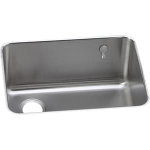 Elkay Gourmet 12 in. Undermount Kitchen Sink in Lustrous Highlighted Satin EELUH231712LEK