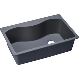 Elkay Harmony™ E-granite™ 5-Hole 1-Bowl Topmount Kitchen Sink with Rear Right Drain EELGS3322R0
