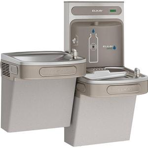 Elkay EzH2O® 8 gph Wall Mount Bi-Level Fill & Water Cooler in Grey EEZSTL8WSVRLK