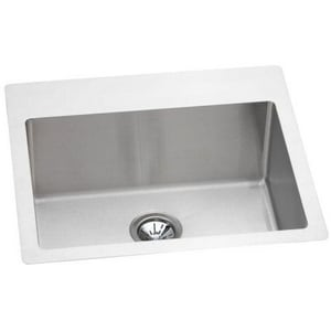 Elkay Avado™ 1-Bowl Drop-In and Undermount Kitchen Sink with Rear Center Drain EEFRTU252210