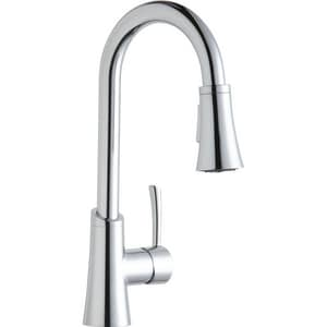 Elkay Gourmet 1-Hole Pull-Down Spray Entertainment Faucet with Single Lever Handle ELKGT3032