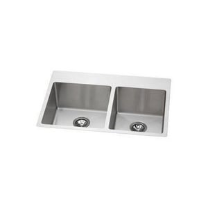 Elkay Avado™ 2-Bowl Topmount and Undermount Kitchen Sink with Center Drain EEFRTUO332210R