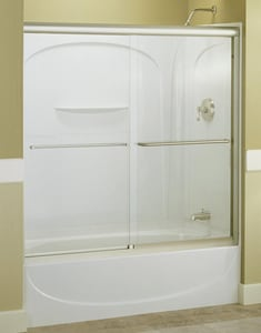 Sterling Finesse® Frameless Sliding Bath Door with Frosted Clear Glass S542559G03