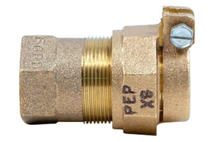 Ford Meter Box FIP x Plain End Compression Brass Coupling FC1633NL