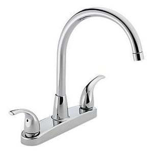 Peerless Faucet 1.8 gpm 3-Hole 3-Hole 2-Lever Handle Kitchen Faucet PP299568LF