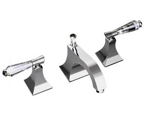 Santec Edo Widespread Lavatory Faucet with Double Lever Handle S9220DC