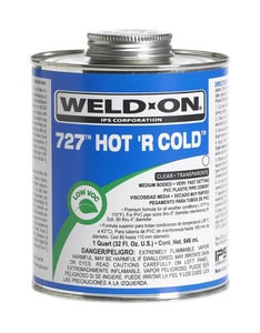 Weld-On 1 qt. PVC Medium Hot R Cold Cement I10841