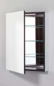 Robern PL Series 24 in. Frameless Medicine Cabinet Lef Hinged with Flat Mirror RPLM2430BLE