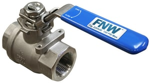 FNW 2-Piece Stainless Steel Full Port Safety Exhaust Ball Valve FNW220ASE