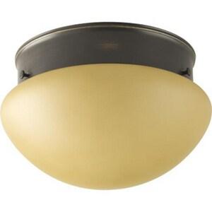 Progress Lighting Fitter 60 W 1-Light Medium Flush Mount Ceiling Fixture PP340820T