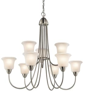 Kichler Lighting Nicholson™ 100W 9-Light Medium Incandescent Chandelier KK42885