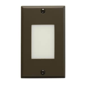 Kichler Lighting 1-Light LED Step Light Lens in Architectural Bronze KK12604AZ