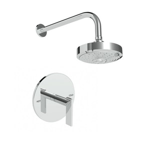 Newport Brass Priya Shower Trim Kit with Single Lever Handle and 1-Function Showerhead N3-2484BP