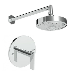 Newport Brass Keaton Shower Trim Kit with Single Lever Handle and 1-Function Showerhead N3-2494BP