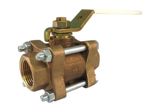 Milwaukee Valve UPBA300 Cast Bronze Full Port Threaded 600# Ball Valve MUPBA300
