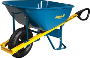 Ames-True Temper Jackson Wheelbarrow With Total Control Steel-Handle AM6TC