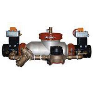 Wilkins Regulator 43-1/2 in. Double Check Detector Assembly with Butterfly Valve in Stainless Steel W350ASTDABGVICU