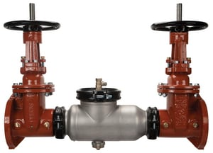 Wilkins Regulator Flanged x Grooved Stainless Steel Double Check Valve with Outside Stem and Yoke W350ASTOSYFG