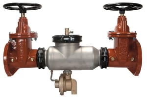 Wilkins Regulator Stainless Steel Reduced Pressure Flange x Flange Outside Steam and Yoke Valve W375ASTOSY