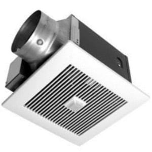 Panasonic vent fan with motion humidity sensor 80 cfm fv for Bathroom exhaust fan cleaning service