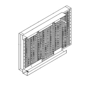 Micrometl Filter Rack with 1 Fltrs Straight Coil MSPP09LSCFLTR
