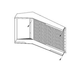 Micrometl Filter Rack with 1 Fltrs Bent Coil MSPP09LBCFLTR