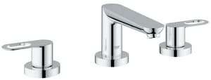 Grohe BauLoop 3-Hole Roman Tub Faucet Double Lever Handle in Starlight Polished Chrome G19593000
