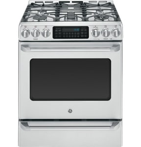 General Electric Appliances Cafe™ 30 in. Free Standing Gas Range With Drawer GCGS985SETSS