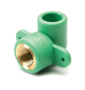 Aquatherm FIP x FIP Plastic Mounted 90 Degree Elbow in Green A0620158